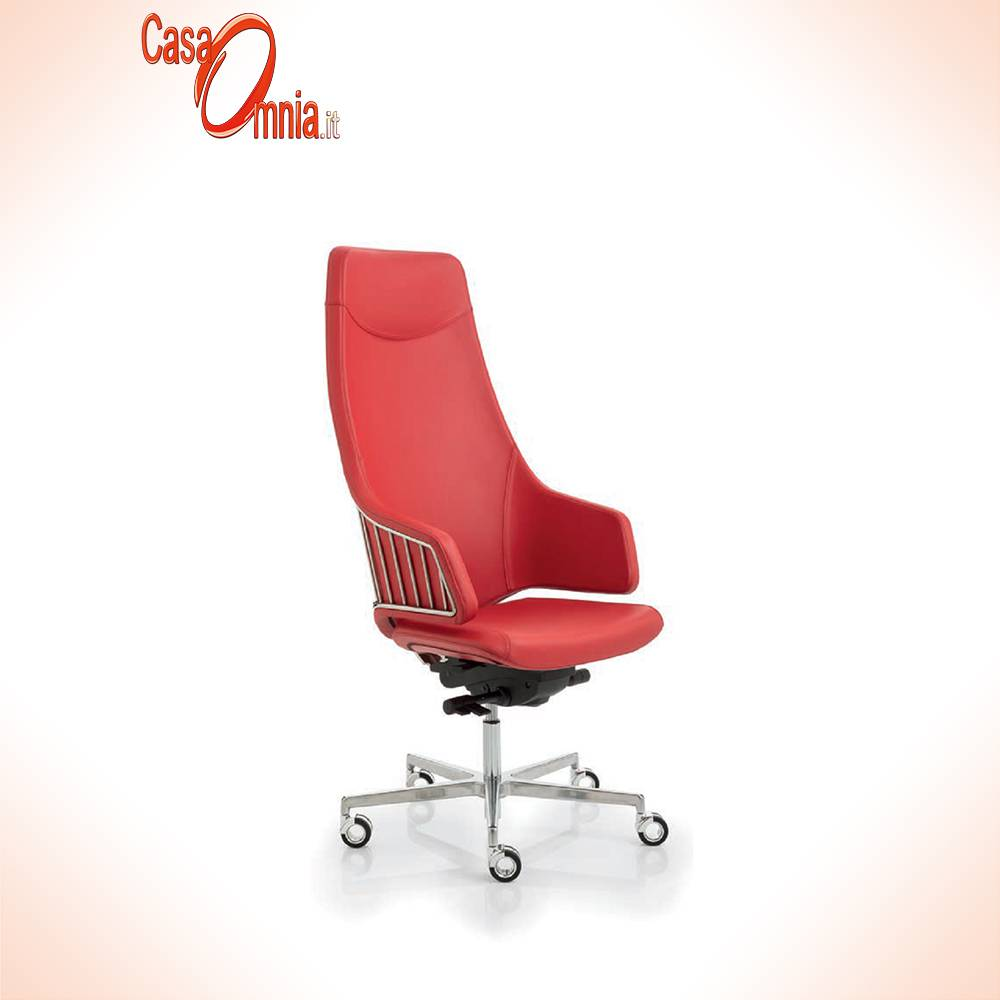 Fauteuil-directionnel italia rouge-Luxy