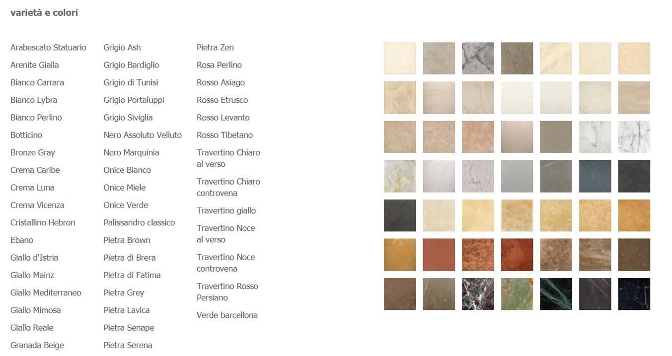 Tabella Colori PIBAMARMI