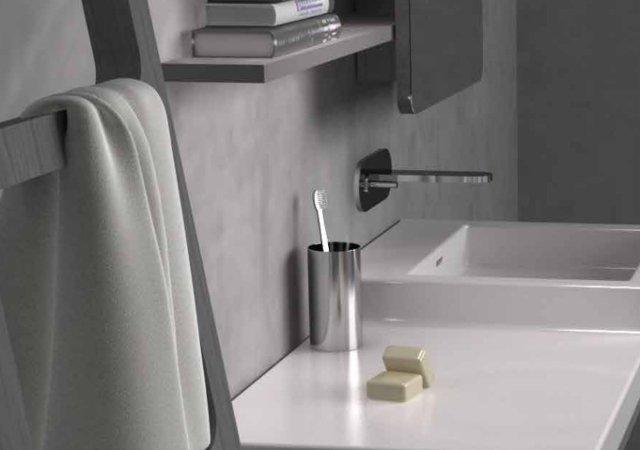 composizione mobile bagno nic design sempice