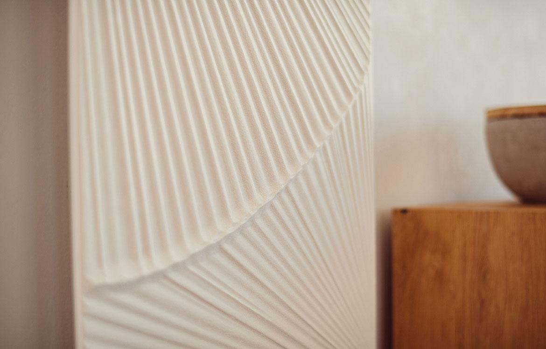 détail graphique radiateur en pierre Graziano ventaglio