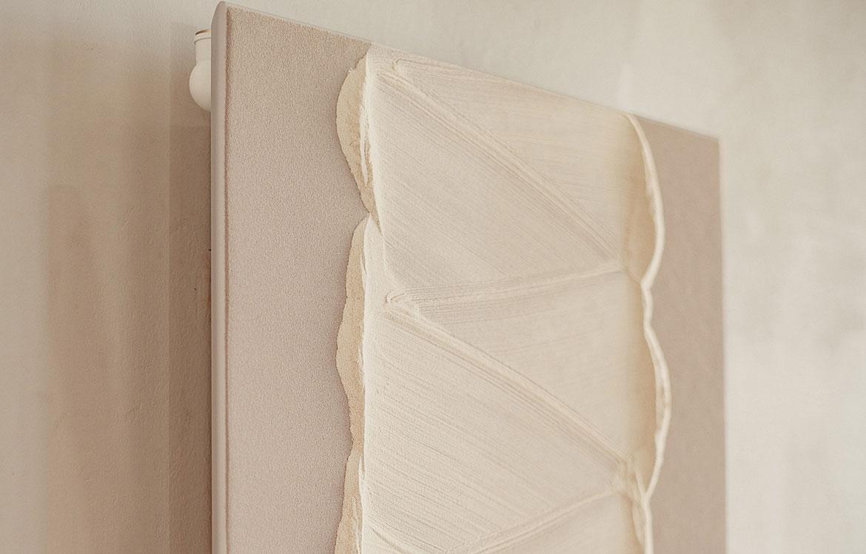 détail graphique radiateur en pierre de savon Kandinsky Graziano