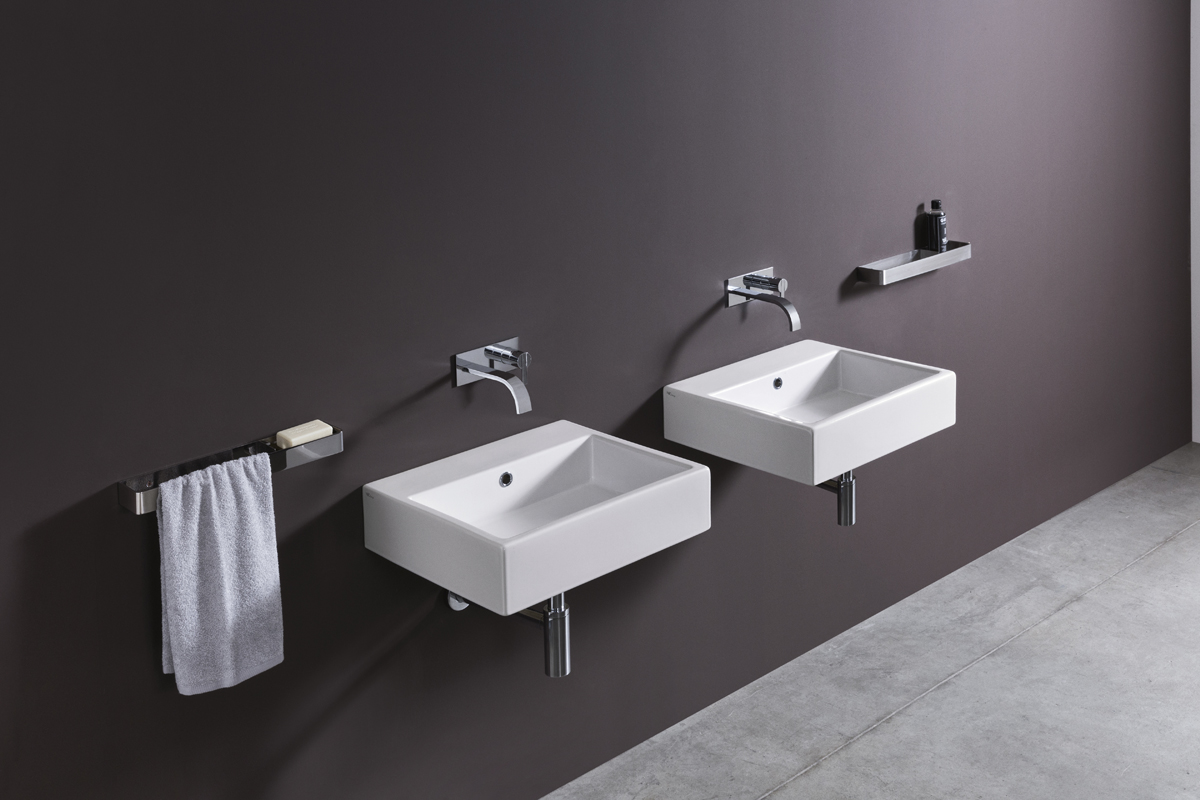 Lay-on or wall mounted washbasin white cool nic design