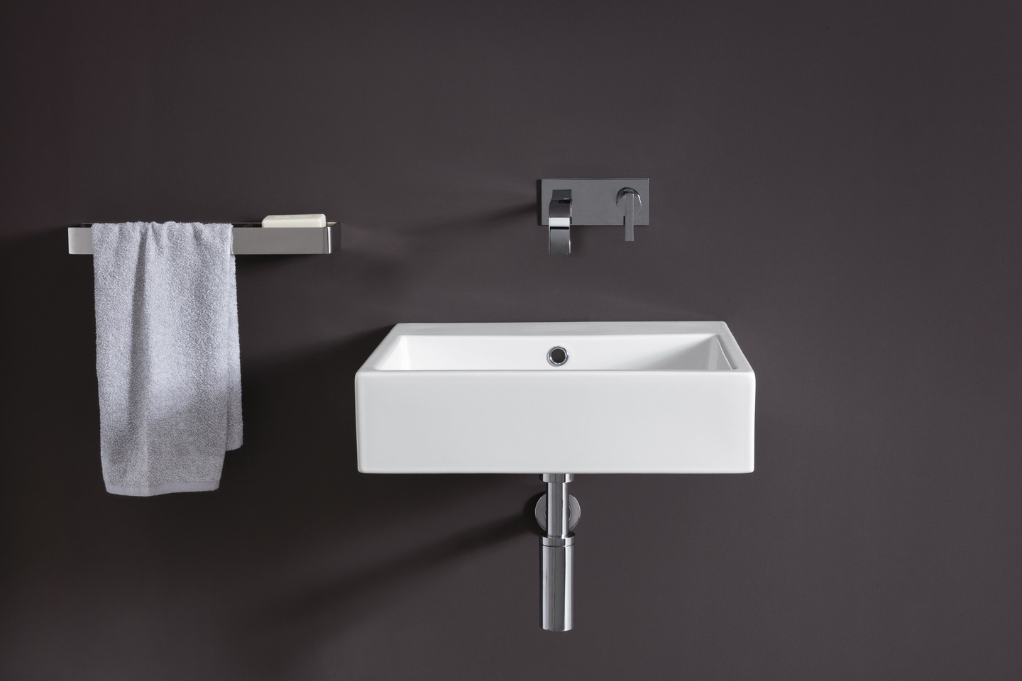Lay-on or wall mounted washbasin ceramic nic design cool