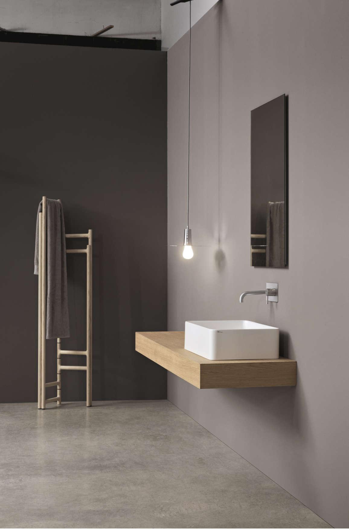 lay-on washbasin white nic design semplice rectangle