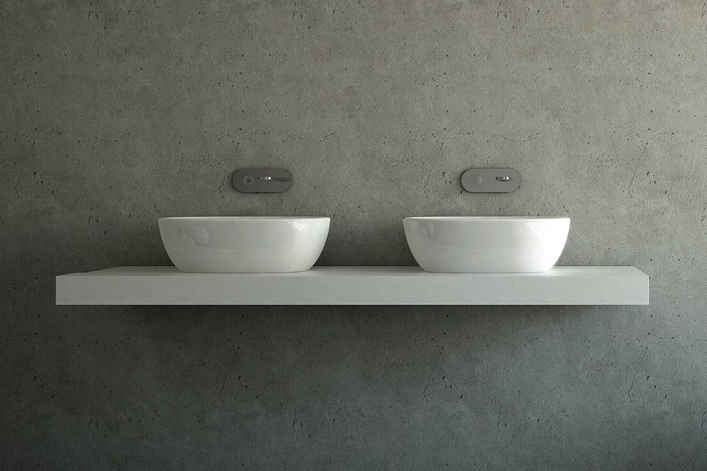 lavabo da appoggio ceramica nic design milk