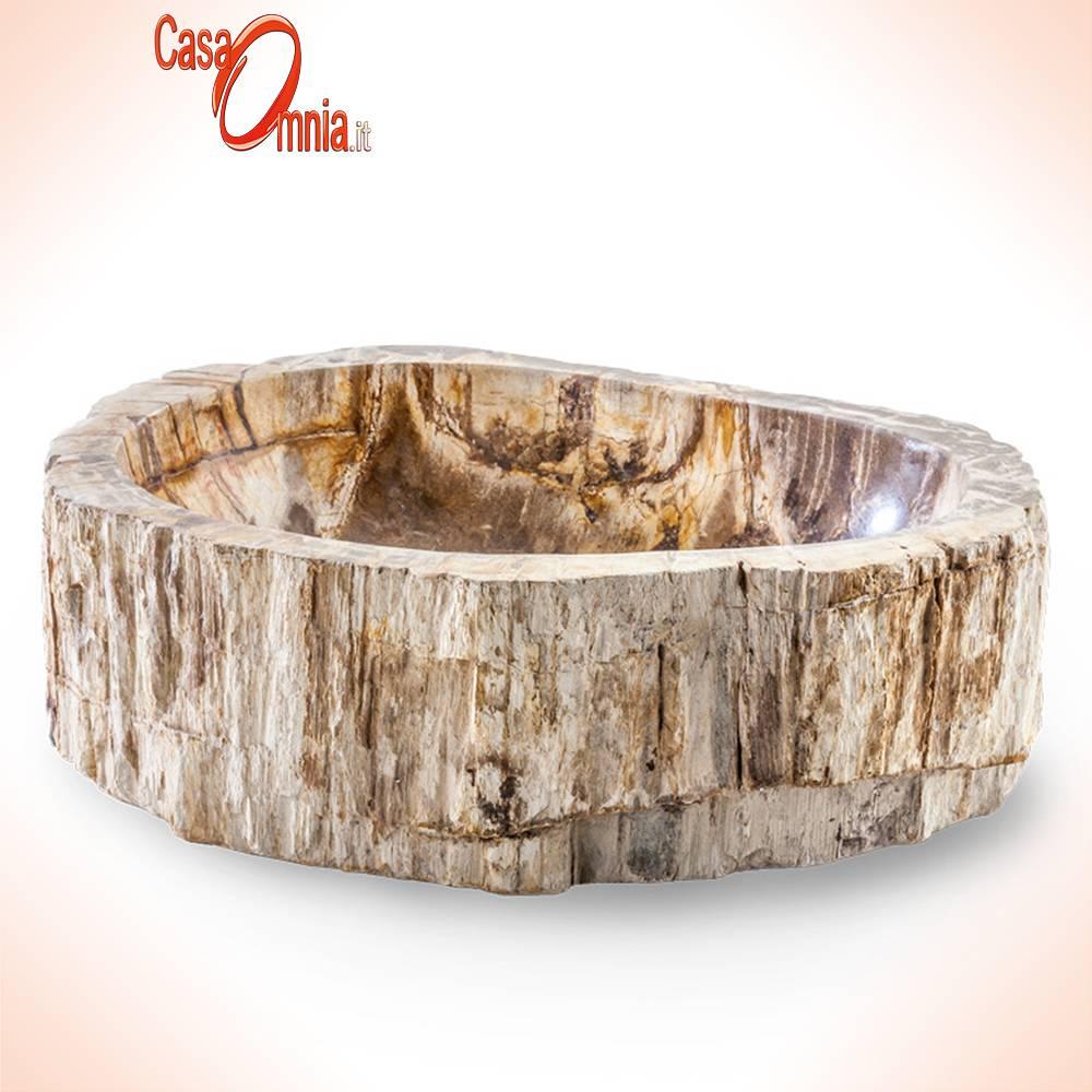 lavabo sur pied en bois pétrifié-cipi-pierre-trois-bois-fossile