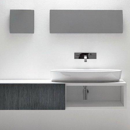 lavabo à poser nic design céramique slim blanc coloré