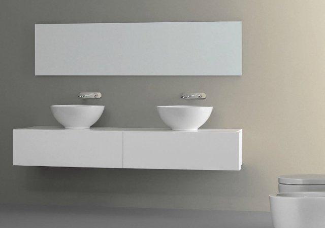 lavabo à poser nic design flavia blanc coloré