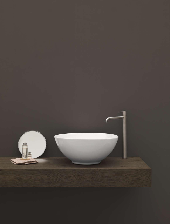 lavabo à poser nic design flavia céramique blanc