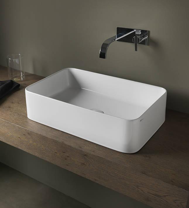 lay-on washbasin nic design semplice rectangle