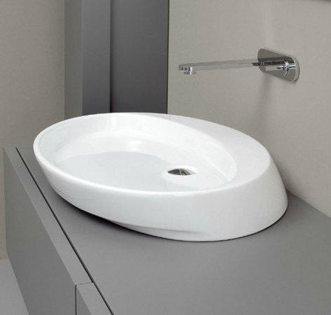 lavabo à poser nic design slim blanc coloré