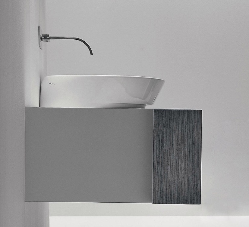 lavabo à poser nic design slim blanc coloré céramique