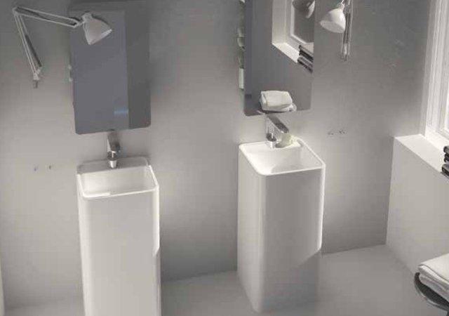 lavabo da terra ceramica nic design semplice con foro freestanding