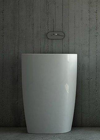 lavabo au sol en céramique blanc coloré nic milk free standing