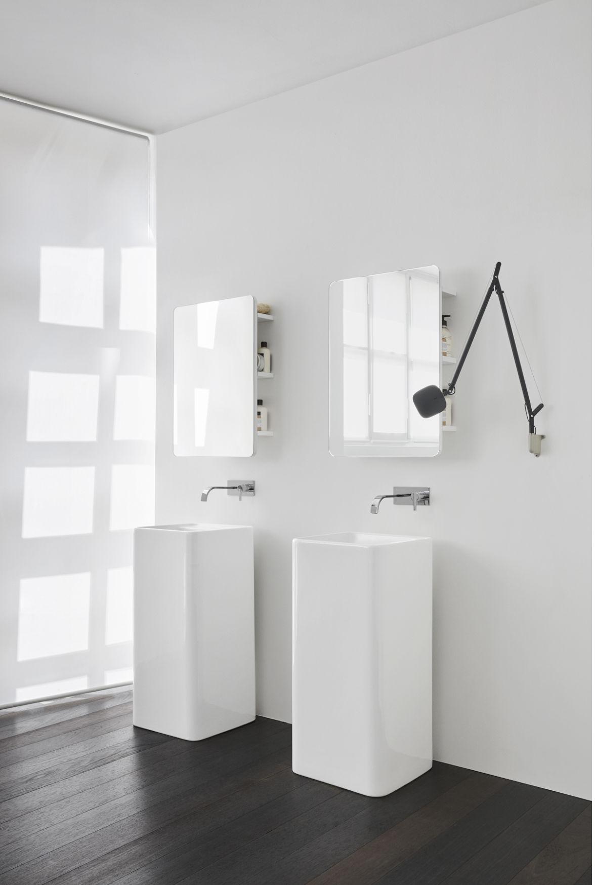 lavabo au sol nic design freestanding blanc