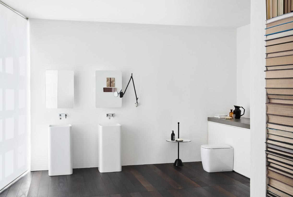 lavabo da terra nic design semplice free standing senza foro