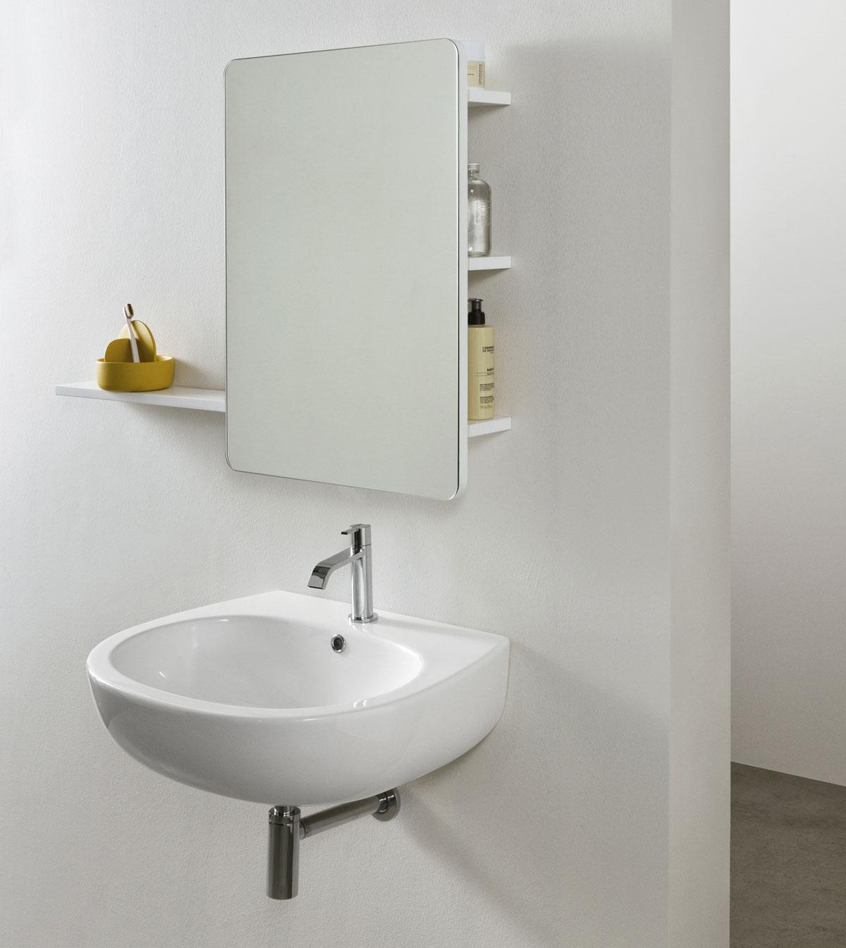 lavabo suspendu céramique blanc coloré nic design milk