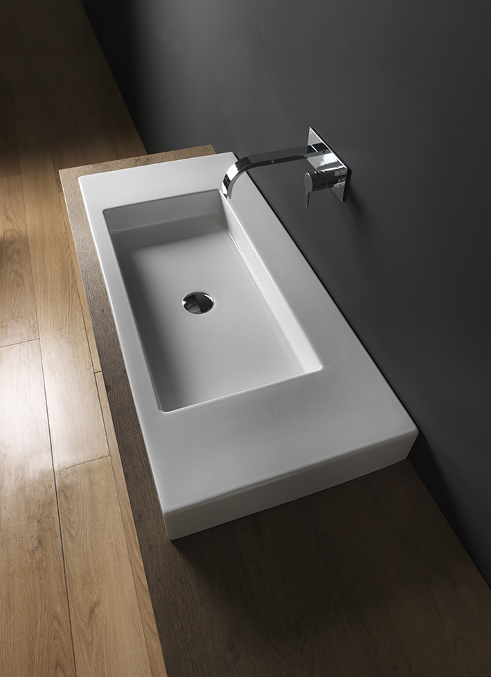 lavabo suspendu nic design céramique cult