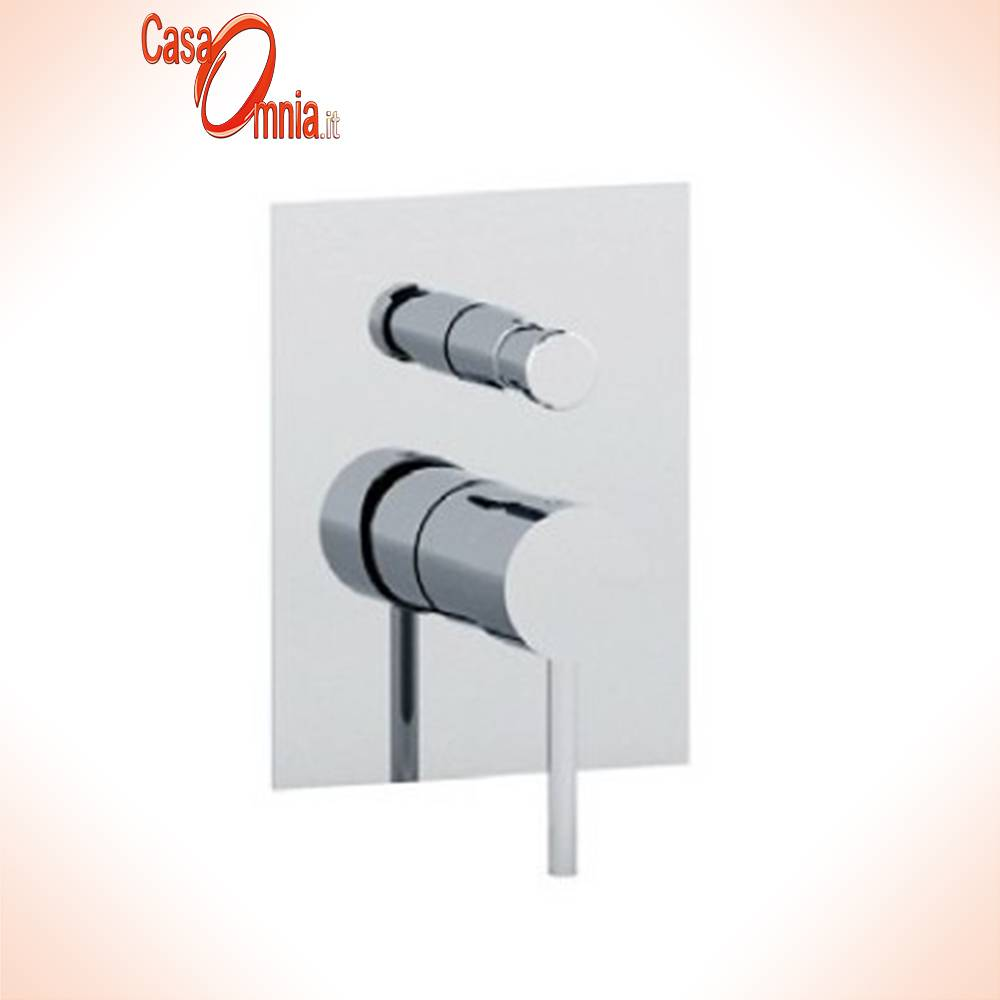 built-in mixer with button-2-out-rectangular plate