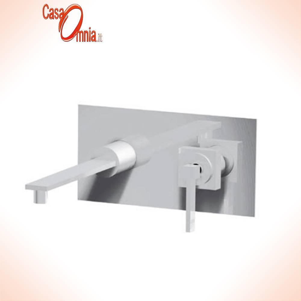 mélangeur de lavabo mural sur plaque avec bec pop-up-245-260-bellosta-vogue-light