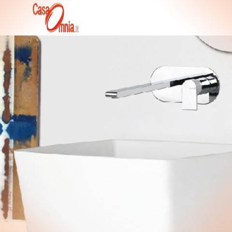 miscelatore per lavabo a muro su piastra ovale bellosta 4805.3-4805.3.1