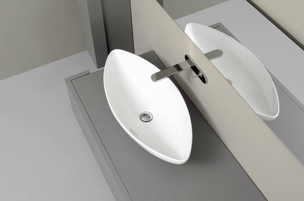nic design lavabo à poser serie nina ovale blanc 80 cm 90 cm