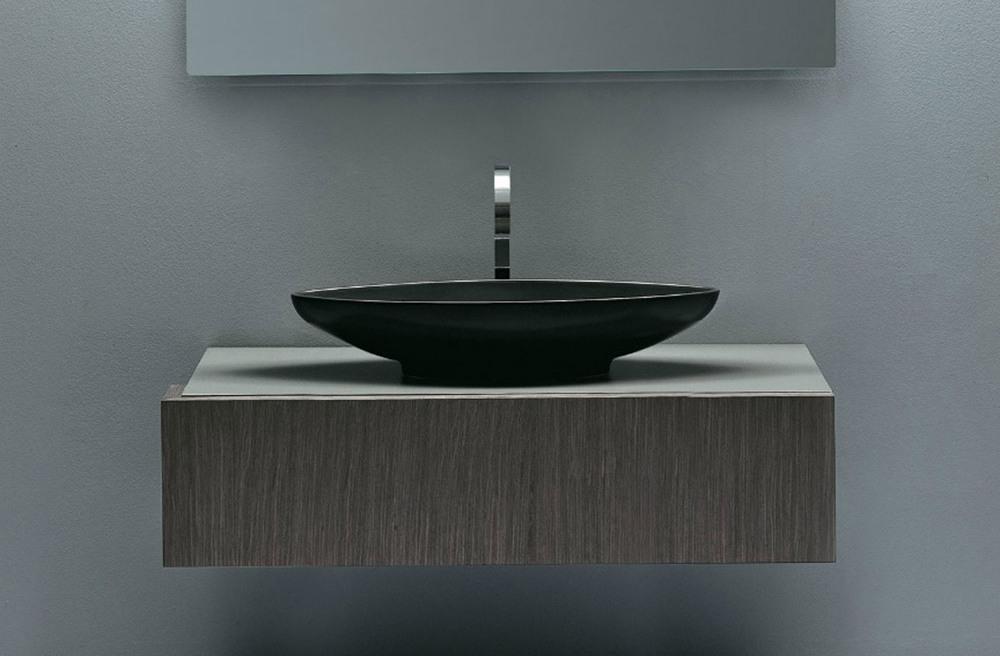 nic design lavabo à poser serie nina ovale coloré