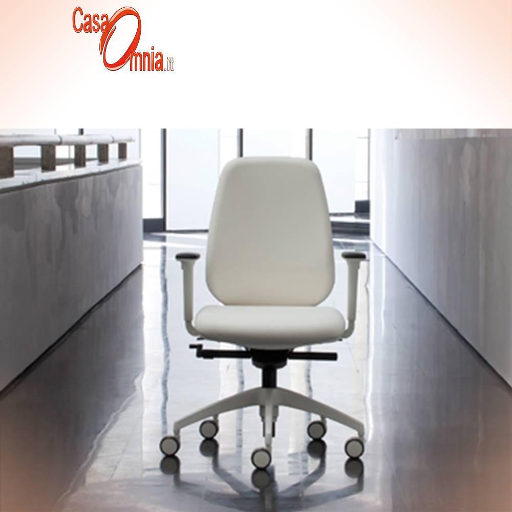 chaise de bureau-PRATICA Luxy avec armes blanc