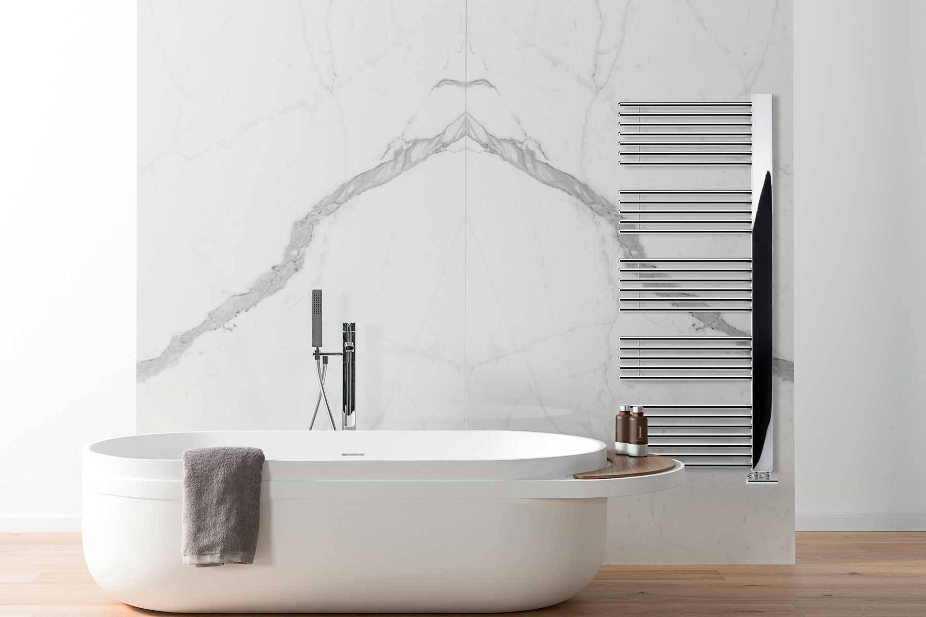 sèche-serviettes Grado lazzarini chrome environnement salle de bain