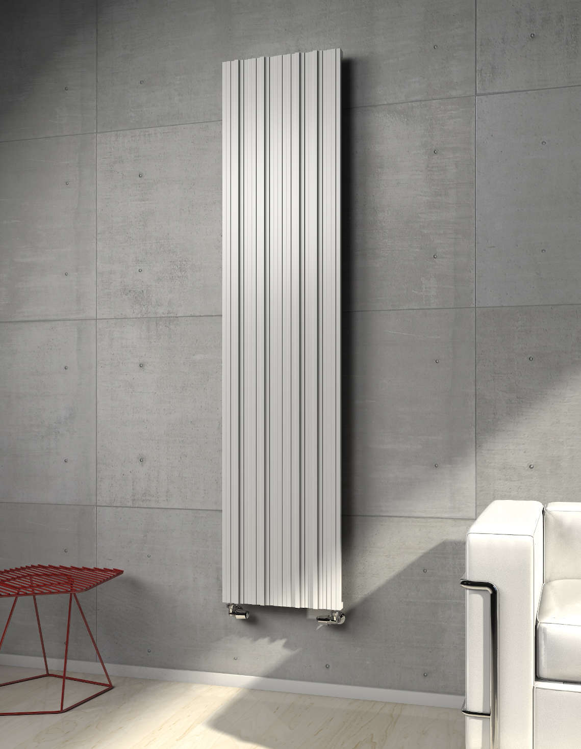 plate heated towel rail white colored righi brem 2019