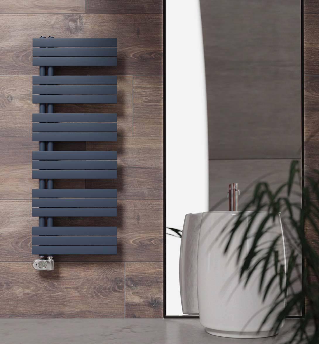 Chauffe-serviettes-Cordivari-Kelly-plat-électrique-couleur-f37-denim-bleu