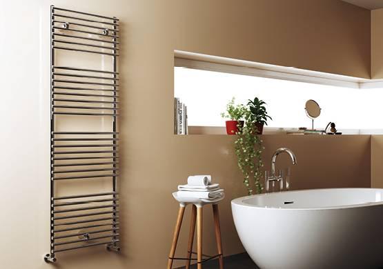 Heated towel rail-Cordivari-model-Leila Stainless Polished