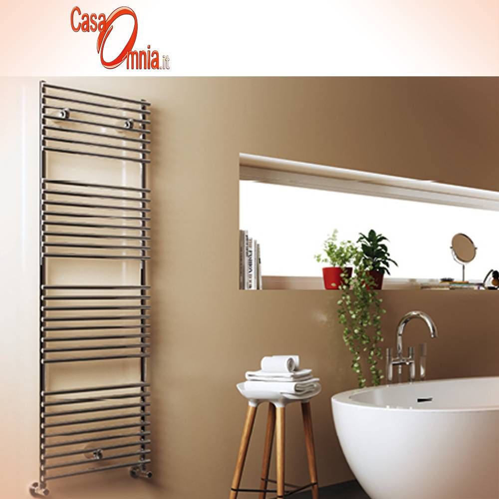 Heated towel rail-Cordivari-series-Leila-inox-Polished