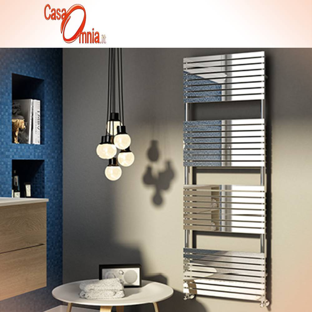 Heated towel rail-Cordivari-Stefania-inox-Polished
