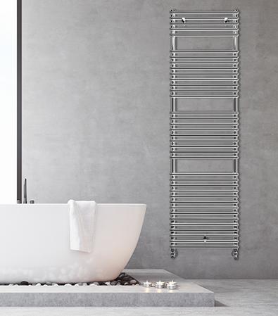 sèche-serviettes chrome catania lazzarini