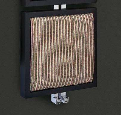 deltacalor tris heated towel rail with towel particular