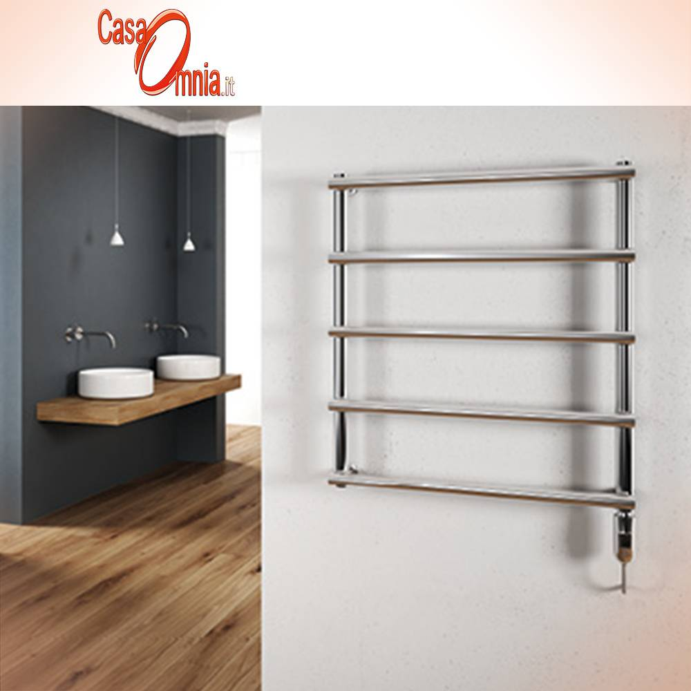 Towel Warmer-electric-Cordivari-serie-laura-stainless-polished