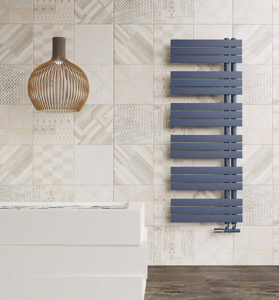 Heated towel rail-Kelly-flat-Cordivari-radiator-bathroom-water