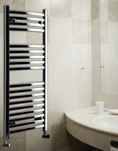 heated towel rail lazzarini chrome merano