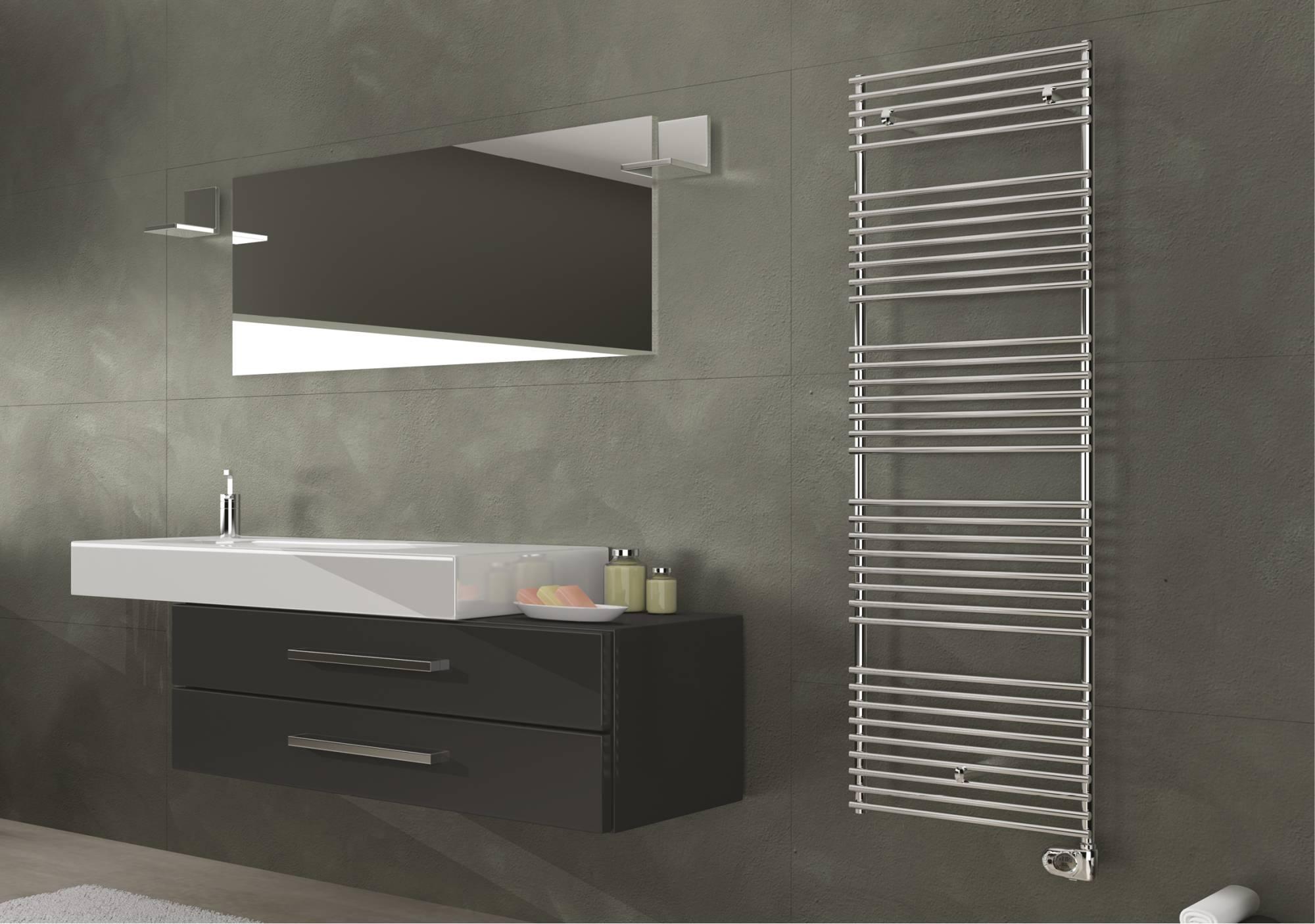 Electric Leila Towel warmer in stainless steel glossy Cordivari