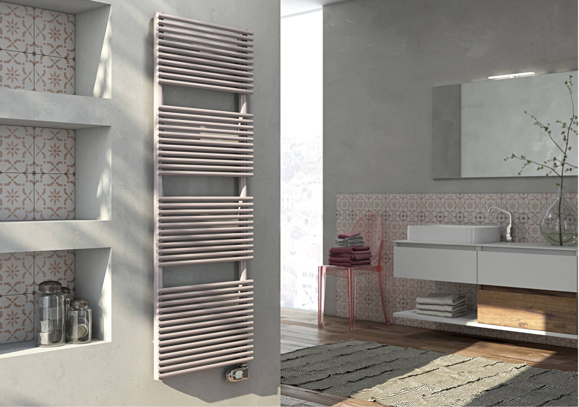 Lucy Electric Towel warmer with eco Cordivari thermostat