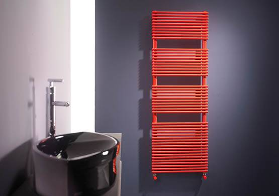 Towel warmers white or colored thin tubes lucy Cordivari