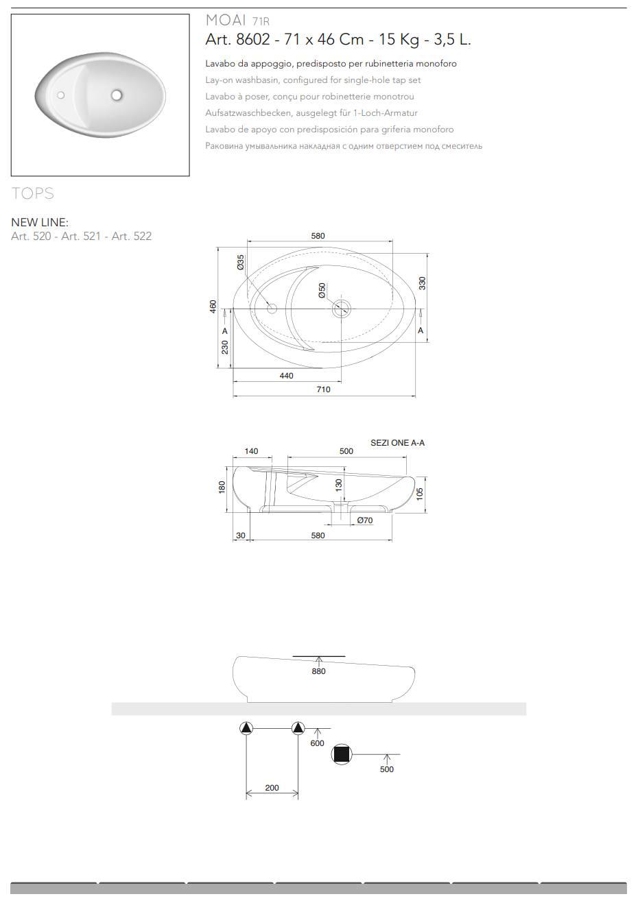 Feuille-technique-lavabo-a poser-Moai-R