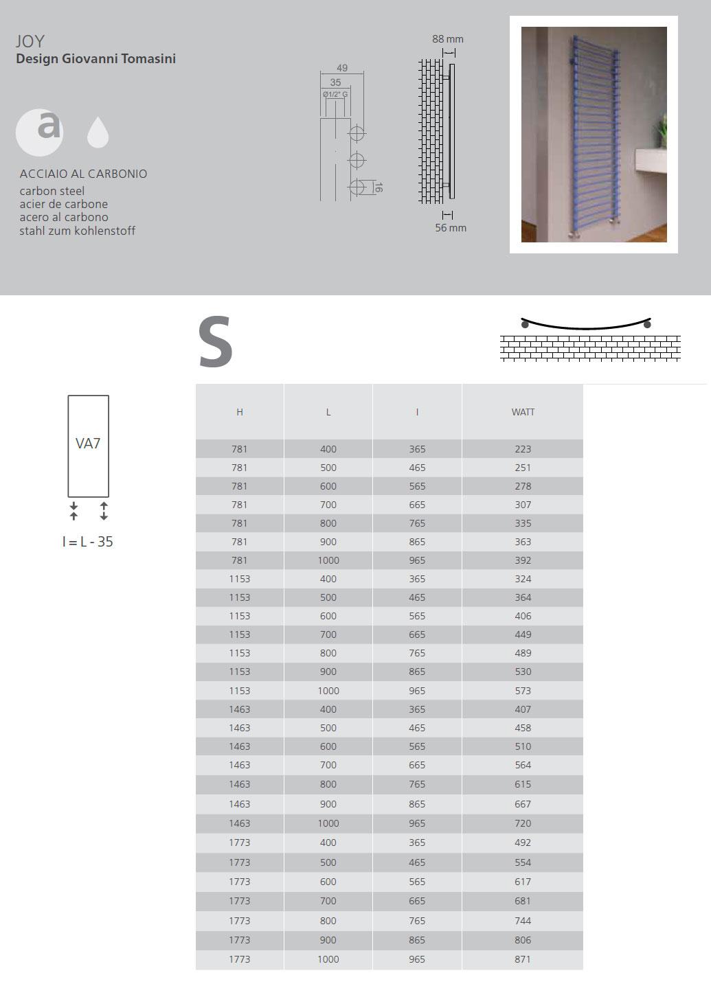 fiche-technique-seche-serviettes-graziano-radiators-joy-2019