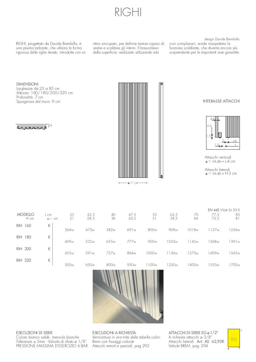 fiche technique plaque radiateur righi brem
