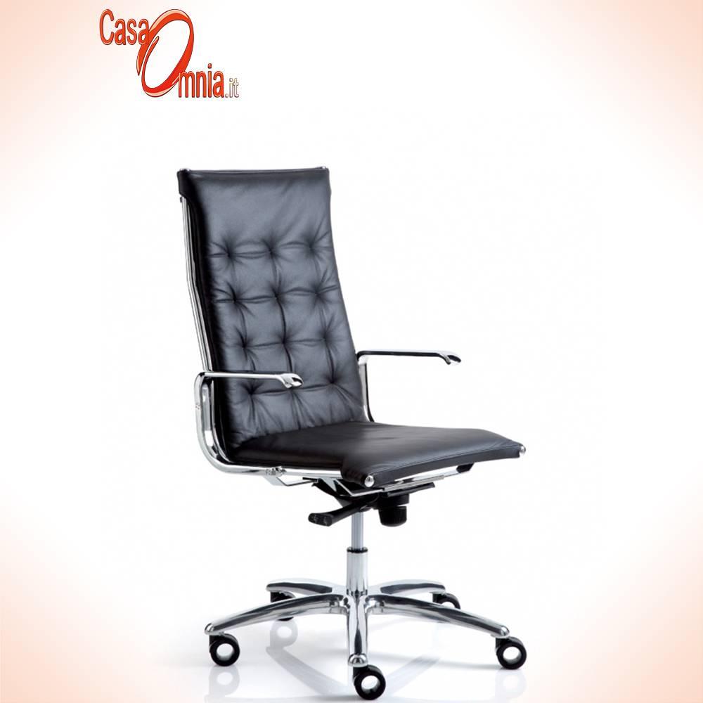 Chaise-directionnel-luxy-series-taylord-ergonomique-office-pivot-roue-back-up rembourré en cuir bras-aluminium-couleur-noir-design