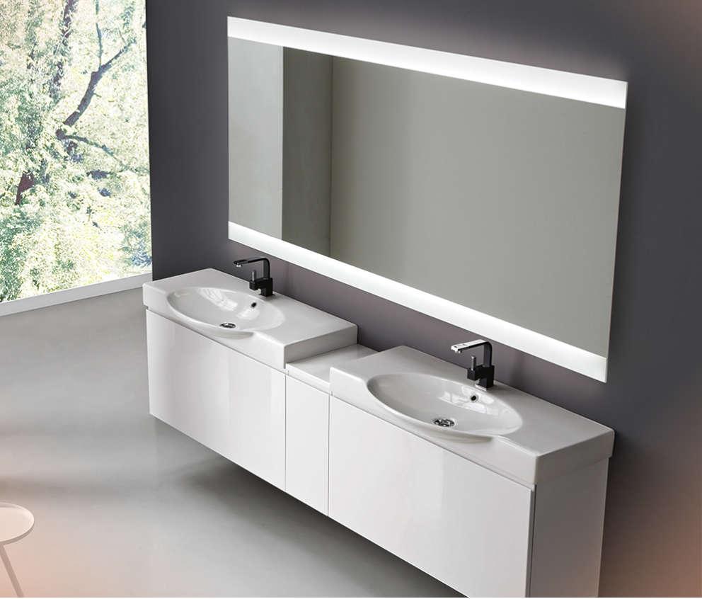 Miroir salle de bain rétro-éclairé led kit bluetooth vanità e casa vela