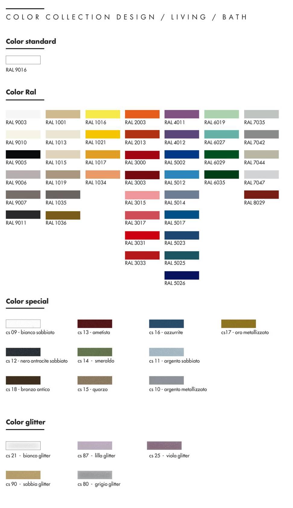 tabella_colori_Graziano_radiators