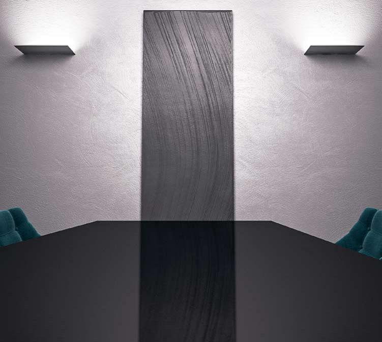 Radiateur à plaque en pierre-graziano-radiateurs space gris