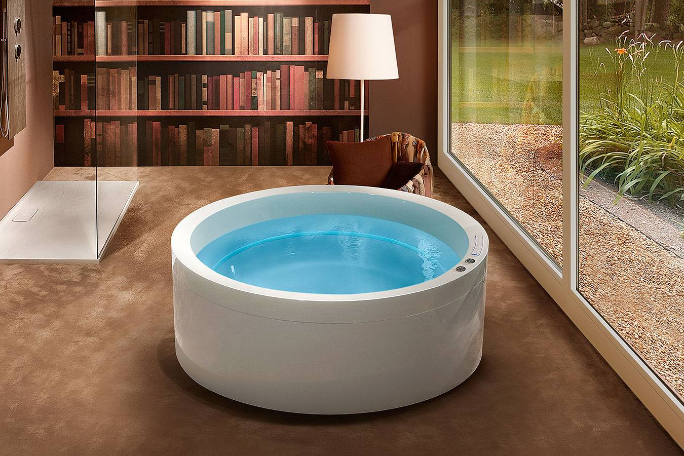 Bathtub Free standing whirlpool Ghost system Tresse Dream 160